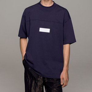 T-SHIRT STAMPA RIFLETTENTE 19SS TOPSTONEY Lettera Logo Stampa Tee Fashion 4 Colori T-shirt Uomo casual sciolto Uomo T-shirt HFSSTX0001