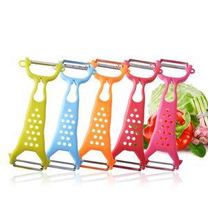 Eindickung Double Head Schälmesser aus Kunststoff Peeler Haushalt Küche Obst Kartoffel Multi-Funktions-Reibe gut verkaufen 1 68bt J1