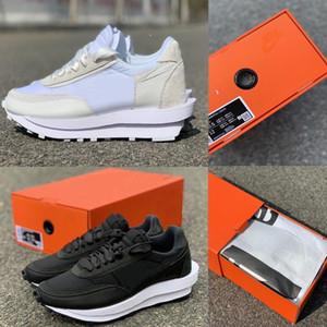 2020 nueva Sacai x LDV galleta de nylon blanco de nylon con la caja de los zapatos corrientes de los hombres de las mujeres con la caja mejor calidad