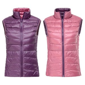 Women's Warm Vests Ultra Light Down Vest Double Side Sleeveless Jacket Gilet Reversible Gilet Plus Size With Carry Bag