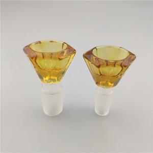 стеклянный бонг чаши чаша водопроводная 14 Стиль 14мм и 18мм Мужчина для Бонг мазка станкам бесплатной доставкой