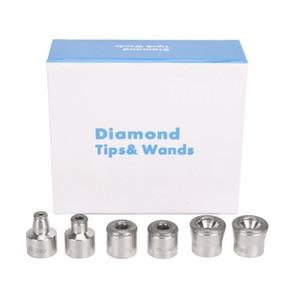 Microdermoabrasione peeling facciale Macchine dermoabrasione sostituzione diamante Consigli 6 unità per l'acciaio bacchette Cura del viso dispositivo Usa