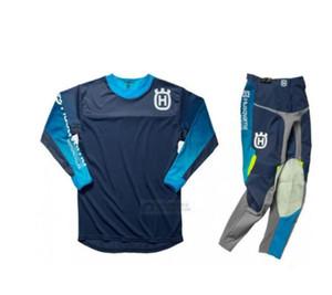 2020 İÇİN Husqvarna Husky Stil Motokros Suit Motobiker Yarışı Binme Jersey + Pantolon Motosiklet MX sürme kombinasyonu