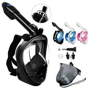 2019 La nuova versione di Anti-Fog Nuotare Immersione Full Face Mask Superficie Snorkel Scuba Kid per adulti