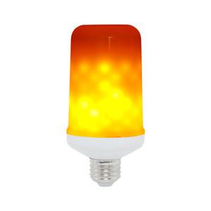 E27 / E14 / E16 LED Dinâmico Fogo Chama Efeito de milho Bulb 3 modos AC 85-265V cintilação Emulação Decor Lamp criativas fogo Luzes Lamparas
