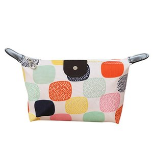 MISS M New Large-capacity Printed Storage Cosmetic Women Waterproof Small Toiletries Bag Washing Folding Travel Makeup Bag Girl