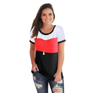 Womens Designer Tshirts Fashion Slim Crew Neck Pullover Womens Tees Casual Females Clothing Mulit Colors Panelled