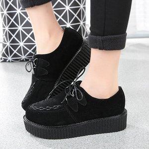 ZHENWEIMEI Sneakers Platformu Canva Bağcıklar Kadınlar Düz Ayakkabı Bağcıklar İlkbahar Sonbahar Sinter Kadınlar Chunky Ayakkabı