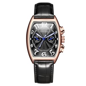 2021 Orola Brand Automatic Mechantical Men Watch 2021 Fashion Business Orologio da polso Cintura in pelle unica Cintura di alta qualità regalo orologio da regalo uomo scatola