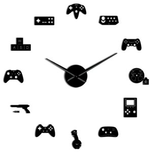 Newest Game Controller Video Diy Giant Wall Clock Game Joysticks Stickers Gamer Wall Art Video Gaming Signs Boy Bedroom Roo