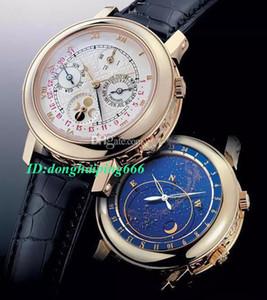Top vente Mens montres automatique Six aiguilles mécanique Sports Business Sky Moon Bracelet en cuir PP Mens Watch Man Wristwatch Livraison gratuite