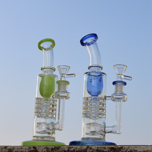 Tubi vendita calda Torus Glass Bong invertito soffione Perc Glass Bong Ratchet Perc Dab Rigs acqua con Bowl Pipe YQ02