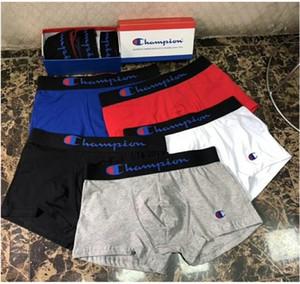 Pantaloni mutande Shorts Lettera design Cuecas U convesso corta da uomo Champions Indumento intimo traspirante uomini di boxer di cotone a vita alta Boxers M-2XL