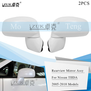 ZUK 2PCS Brand New Outer Side Rearview Mirror Assy For NISSAN TIIDA LATIO VERSA C11 2006 2007 2008 2009 2010 Base Color 3 5 PINS