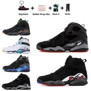 Atacado 2020 New 8 Erros alternativos Coelho 8s Black Chrome Homens Mulheres tênis de basquete do Aqua VIII Três Turfa Tênis Athletic Shoes
