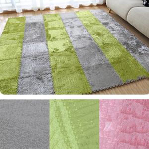 1PCS / 세트 30cm / 조각 퍼즐 매트 EVA 폼 무성한 벨벳 카펫 도어 매트 퍼즐 플러시 직물 카펫 깔개 룸 바닥 매트