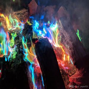 참신 게임 마법 화재 색 불꽃 색 분말 파티 축제 공급 화려한 불꽃 신비로운 화재 매직 금속 분말 소품