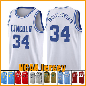 34 Jesus Shuttles-estima filme Ray Allen Lincoln 14 Will Smith 25 Carlton Banks Basketball Jersey Amor 22 McCall NCAA AZUL ADWEFGV