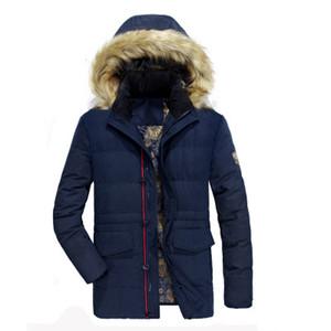 Hommes d'hiver chaud New épais manteau de veste longue section Jeune Casual Male en vrac Coton rembourré Homme Veste Parkas