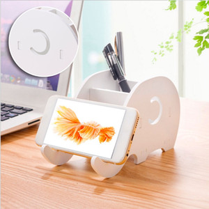Home Office Desktop Elephant Scatola Sundries Organizer cancelleria matita Holder Phone penna basamento della staffa rack di stoccaggio Y429