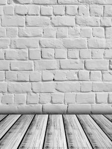 Brick Wall vinil Fotografia Backdrops Grey assoalho de madeira Photo Booth Fundos para crianças Estúdio Props