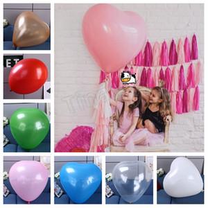 36 인치 하트 모양의 어린이 풍선 9 색 사랑 풍선 거대한 공 웨딩 풍선 발렌타인 데이 웨딩 장식 T2I5078
