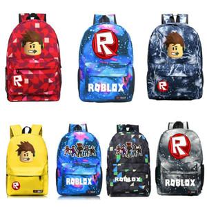 Roblox Backpack Crianças Boy Girl Oxford Mochila Alunos do Ensino Travel Bag Bookbag Bolsa Laptop sacos de desporto ao ar livre Shoulderbag Satchel