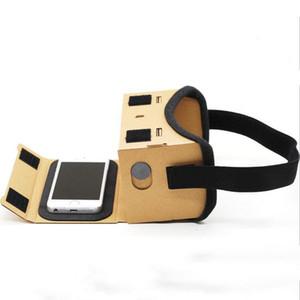 Realidade Virtual Óculos Google Cardboard Óculos Óculos 3D VR Box Filmes para iPhone 5 6 7 SmartPhones VR Headset Para Xiaomi