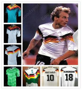 88 90 96 94 14 04 Allemagne Retro Soccer Jersey 18 KLINSMANN Matthaus Mueller Muller Effenberg Ozier Kahn Deutschland Ballack Football Klose