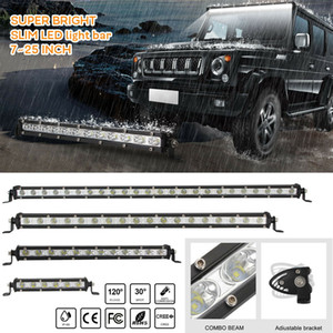 8/14/20/26 pouces simple rangée Slim LED Light Work Bar pour voiture Off road camion