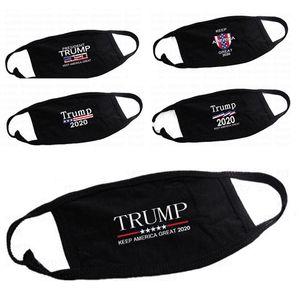 Trump Masques visage anti-poussière Coton Femme Homme Unisexe Mode Hiver chaud masque noir Drapeau États-Unis