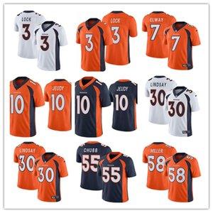2020 Mens DenverBronco 3 Drew Lock 10 Jerry Jeudy 58 Von Miller 55 Bradley Chubb 30 Phillip Lindsay 7 John Elway Football Jerseys