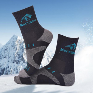 Marsnow 2018 New Winter Ski Socks Cotton Keep Warm Men Women Children Cycling Socks Soft Breathable Running Hiking