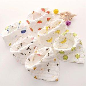 Novo triângulo saliva toalha de bebê saliva toalha de bebê espessamento bib suave agente não fluorescente saliva saudável toalha T8G012