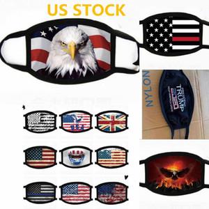 Yetişkin FY9120 ABD Stok Bayrak Yüz Tasarımcı Maskeler Yıkanabilir Maskeler Yaz Dış Mekan Spor Binme Maskeleri Moda Tasarımcısı Maskesi