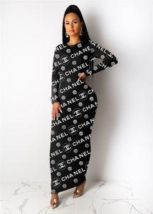 Femmes robe jupe une robes de pièce manches longues longueur cheville robes nuit klw2477 porter des vêtements de femmes de haute qualité