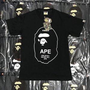 Bape нового способа Mens Стилист T Shirt Mens вскользь короткими рукавами Летние Пары Высокое качество тройники