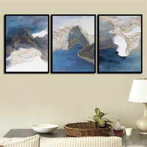 Wall Art Canvas HD Stampa Immagini Painting Abstract Colorful Line Paesaggio Nordic Style Kids Decoration Poster Girl's Room
