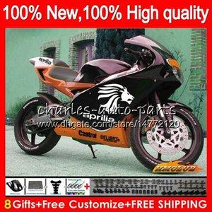 Kit For Aprilia RS125R RSV125 R RS 125 RSV125R 70NO.106 dark orange RS-125 1999 2000 2001 2003 2004 2005 RS125 99 00 01 02 03 04 05 Fairing