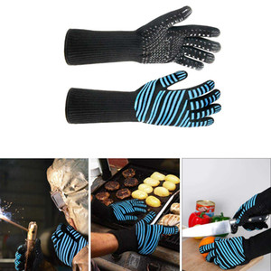 New-Extreme Heat Resistant Bbq Gloves, Kitchen Oven Mitts - Flexible Oven Gloves With Cut Resistant, Silicone Non-Slip Cooking