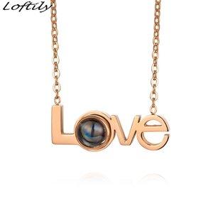 Нержавеющая сталь 100 языка Я люблю тебя ожерелье Проекции Romantic Love Wedding ожерелье Персонализированную ювелирные изделия 520