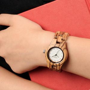 BOBO BIRD L-O29 Donne Zebra orologi in legno dal design di lusso di marca superiore cinghia di legno Movimento al quarzo all'ingrosso Online Shopping Guarda T200519