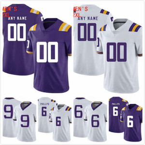 Jacob Phillips Jersey 6 Grant Delpit Jersey 9 Greedy Williams 29 JaCoby Stevens 3 Devin White 40 LSU Tigers 2019 jerseys cosidos S-3XL