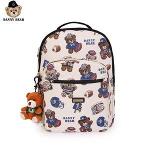 Danny Series Bear Backpack Moda Zipper Tecido Casual estudante Bagpack Travel Bag DMDB9115009-193W