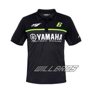 Moto GP Sommer für Yamaha-Team Motorrad Polo Shirt Herren Black Cotton T-Shirt Fan-Polo-Hemd