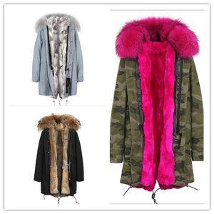 Роза енот меховой отделкой Jazzevar бренд вырос мех кролика подкладка Камуфляж командной оболочки куртках снег меха ветровки Австралия Новая Зеландия