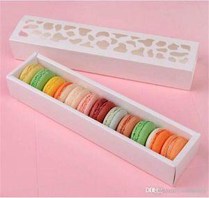 Scava fuori la scatola Coppe scatola di imballaggio cassetto Hot New Macaron, scatola della torta, regalo 200PCS / LOT