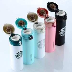 الجملة أعلى جودة ستاربكس زجاجة المياه عالية السعة الزجاج الفولاذ المقاوم للصدأ العزل الحراري كأس 500 ملليلتر 5 أنماط