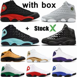 New 13 Green Island Bred Chicago Flint Men sapatas de basquetebol das 13s Ele obteve a jogo Melo DMP Playoff Hiper Real Sneakers com caixa