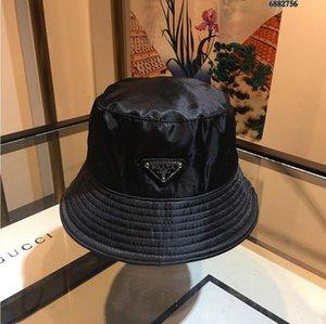 New High quality black color letters Bucket Hat for unisex Fashion Fold able Caps Black Fisherman Beach Sun Visor Folding Cap A58